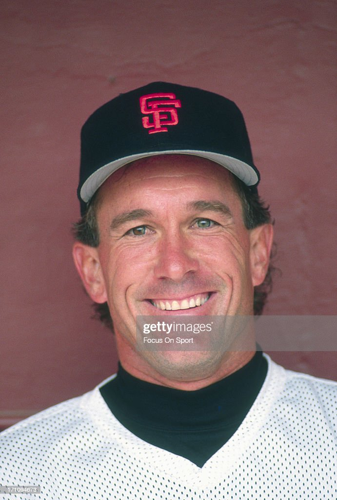Gary Carter #8 of the San Francisco Giants smiles for the camera during batting practice - gary-carter-of-the-san-francisco-giants-smiles-for-the-camera-during-picture-id171094673