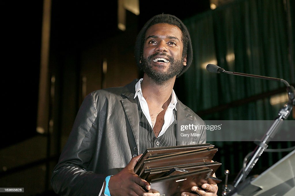 <a gi-track='captionPersonalityLinkClicked' href=/galleries/search?phrase=Gary+Clark+Jr.&family=editorial&specificpeople=4495733 ng-click='$event.stopPropagation()'>Gary Clark Jr.</a> accepts his awards during the Austin Music Awards at the Austin Music Hall during the South By Southwest Music Festival on March 13, 2013 in Austin, Texas.