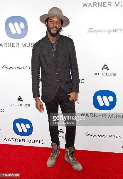 Gary Clark Jr attends Warner Music Group's annual Grammy celebration at Milk Studios on February 15 2016 in Los Angeles California