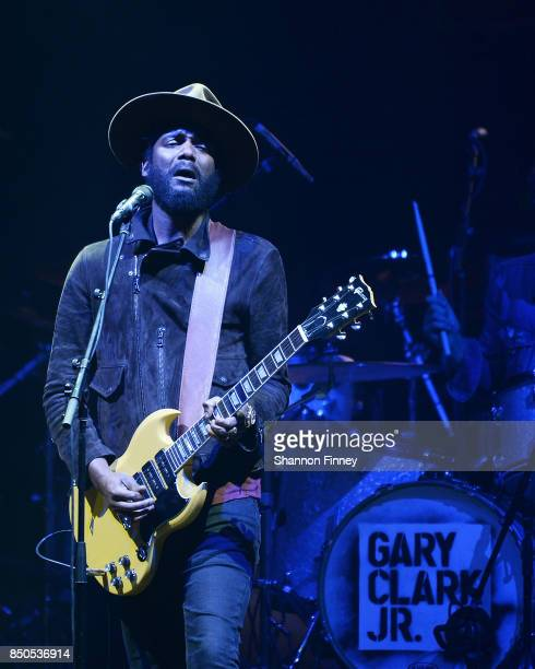 Gary Clark Jr performs at the VetsAid Charity Benefit Concert at Eagle Bank Arena on September 20 2017 in Fairfax Virginia