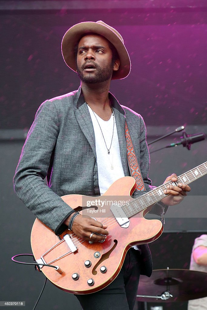 Gary Clark Jr. performs during the 2014 Forecastle Music Festival at Louisville Waterfront Park on July 18, 2014 in Louisville, Kentucky.