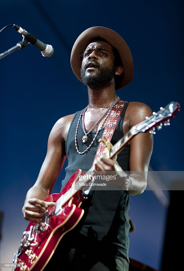 Gary Clark Jr performs live on stage at Big Day Out 2013 on January 20, 2013 in Gold Coast, Australia.