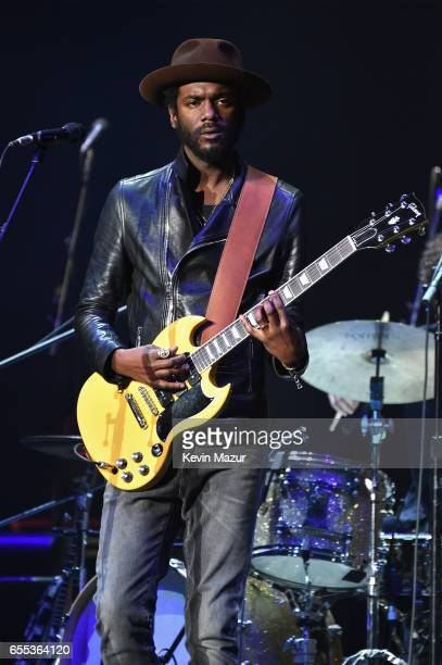Gary Clark Jr performs onstage before Eric Clapton at Madison Square Garden on March 19 2017 in New York City