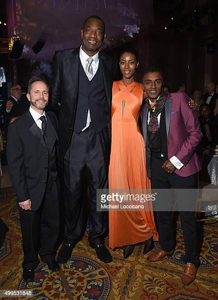 Gary Cohen Dikembe Mutombo model Maya Samuelsson and Marcus Samuelsson attend 11th Annual UNICEF Snowflake Ball Honoring Orlando Bloom Mindy Grossman...