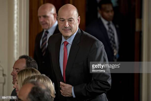 Gary Cohn director of the US National Economic Council arrives to attend a news conference with US President Donald Trump and Juan Manuel Santos...