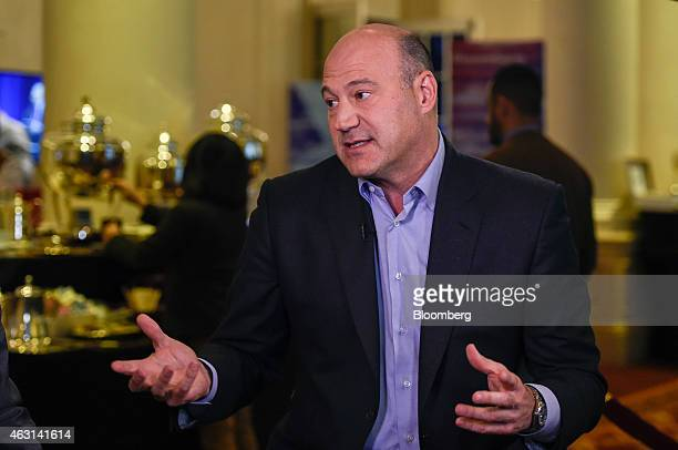 Gary Cohn president and chief operating officer of Goldman Sachs Group Incspeaks during a Bloomberg television interview at the Goldman Sachs...