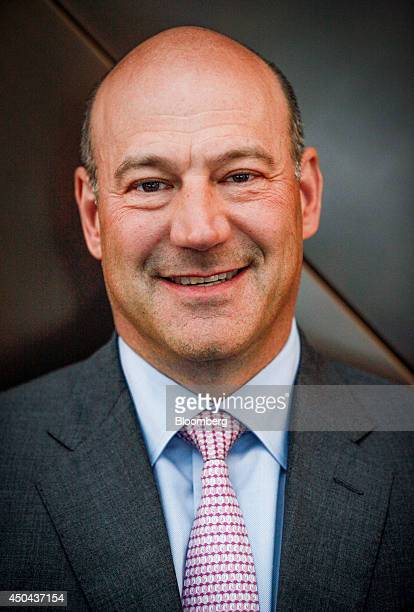 Gary Cohn president and chief operating officer of Goldman Sachs Group Inc stands for a photograph after a Bloomberg Television interview at the...