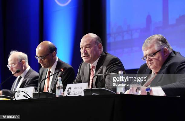Gary Cohn the director of the US National Economic Council center speaks during the Group of Thirty International Banking Seminar in Washington DC US...