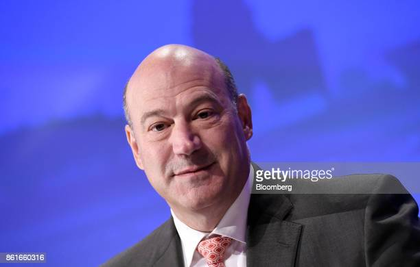 Gary Cohn the director of the US National Economic Council smiles during the Group of Thirty International Banking Seminar in Washington DC US on...