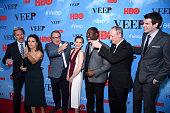 Gary Cole Julia LouisDreyfus Kevin Dunn Anna Chlumsky Sam Richardson Matt Walsh and Timothy Simons attend the 'VEEP' Season 4 New York Screening at...