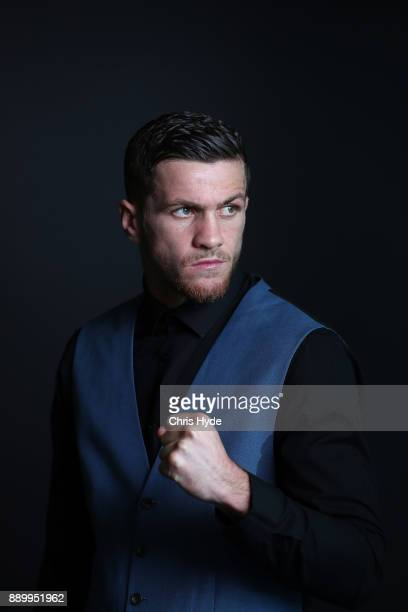 Gary Corcoran poses after a press conference ahead of his WBO World Welterweight Championship fight against Jeff Horn on December 13 Fighters pose...