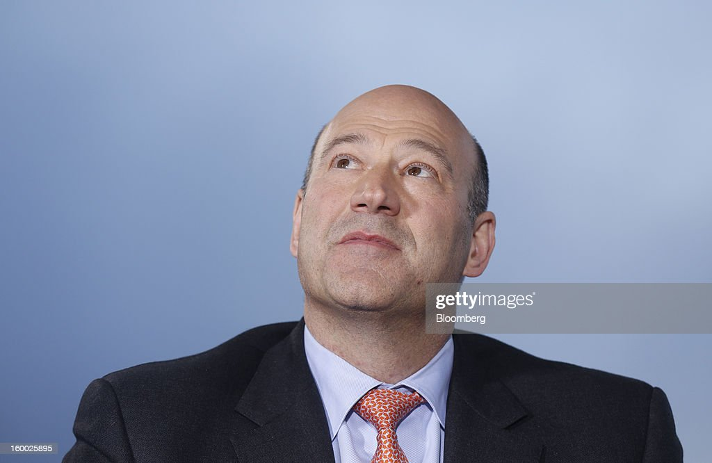 Gary D. Cohn, president and chief operating officer of Goldman Sachs Group Inc., reacts during a Bloomberg Television interview on day two of the World Economic Forum (WEF) in Davos, Switzerland, on Thursday, Jan. 24, 2013. World leaders, influential executives, bankers and policy makers attend the 43rd annual meeting of the World Economic Forum in Davos, the five day event runs from Jan. 23-27. Photographer: Simon Dawson/Bloomberg via Getty Images