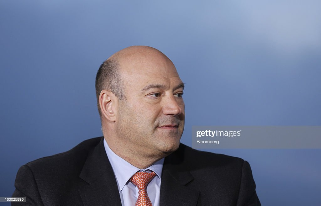 Gary D. Cohn, president and chief operating officer of Goldman Sachs Group Inc., pauses during a Bloomberg Television interview on day two of the World Economic Forum (WEF) in Davos, Switzerland, on Thursday, Jan. 24, 2013. World leaders, influential executives, bankers and policy makers attend the 43rd annual meeting of the World Economic Forum in Davos, the five day event runs from Jan. 23-27. Photographer: Simon Dawson/Bloomberg via Getty Images