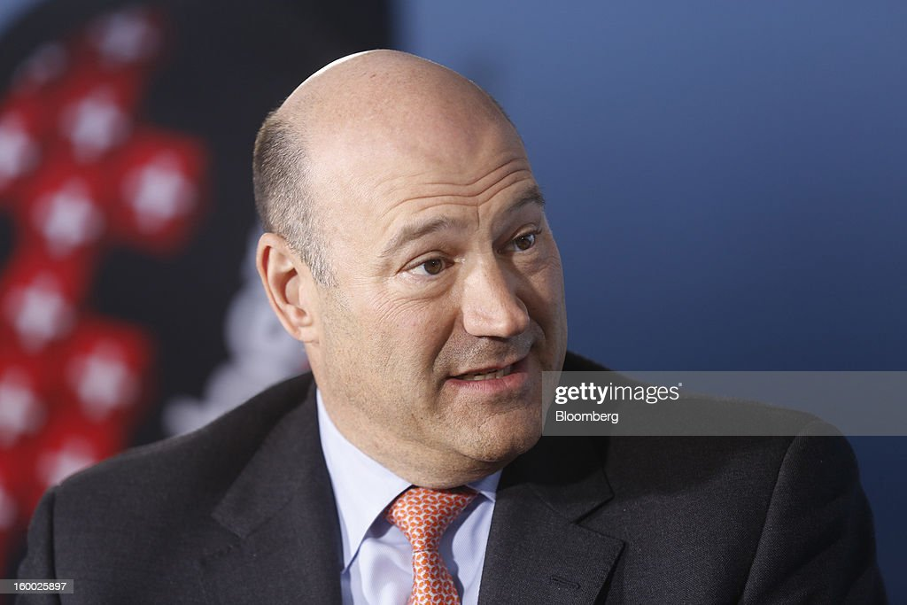 Gary D. Cohn, president and chief operating officer of Goldman Sachs Group Inc., speaks during a Bloomberg Television interview on day two of the World Economic Forum (WEF) in Davos, Switzerland, on Thursday, Jan. 24, 2013. World leaders, influential executives, bankers and policy makers attend the 43rd annual meeting of the World Economic Forum in Davos, the five day event runs from Jan. 23-27. Photographer: Simon Dawson/Bloomberg via Getty Images