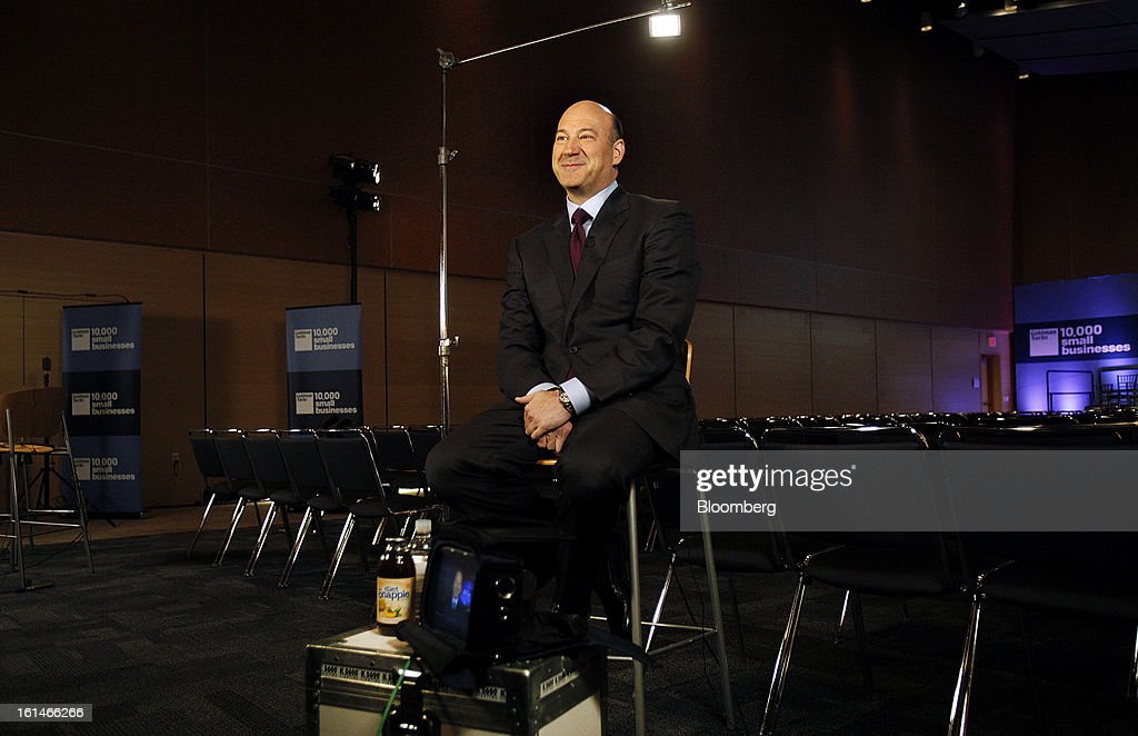 Gary D. Cohn, president and chief operating officer of Goldman Sachs Group Inc., smiles during a Bloomberg Television interview in Warrensville Heights, Ohio, U.S., on Monday, Feb. 11, 2013. Cohn said that interest rates at or near record lows will eventually rise and he's concerned some investors don't understand that bonds will lose value. Photographer: David Maxwell/Bloomberg via Getty Images