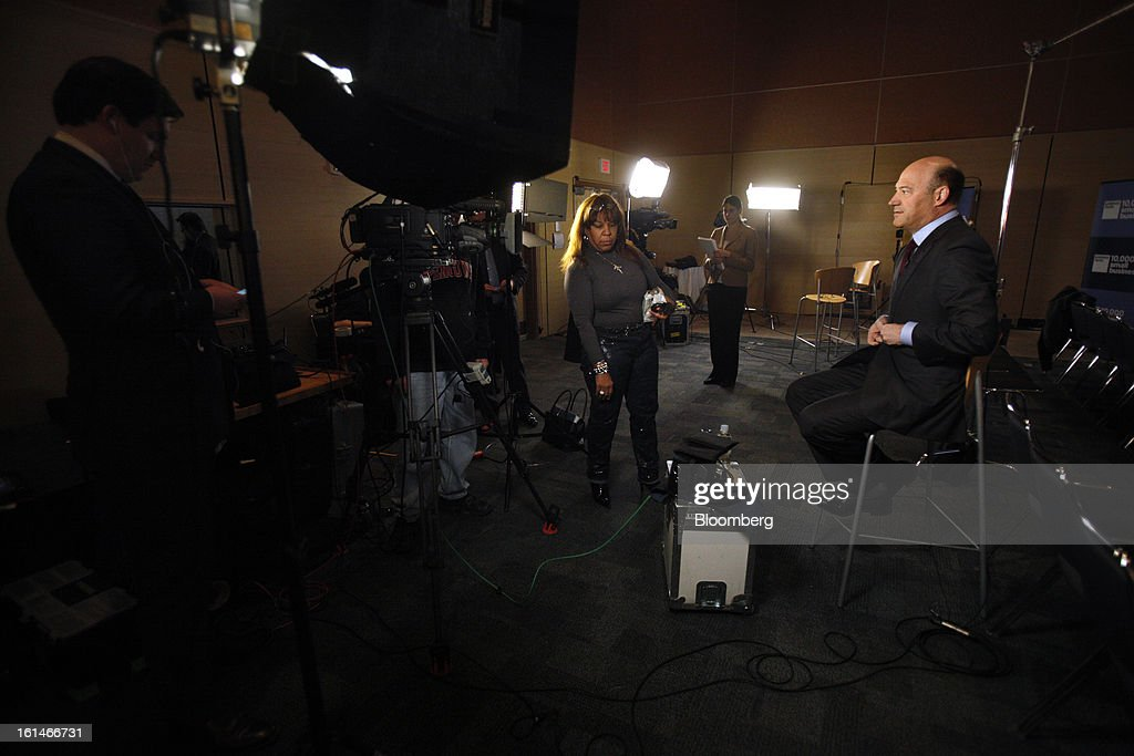Gary D. Cohn, president and chief operating officer of Goldman Sachs Group Inc., gets ready for a Bloomberg Television interview in Warrensville Heights, Ohio, U.S., on Monday, February 11, 2013. Photographer: David Maxwell/Bloomberg via Getty Images