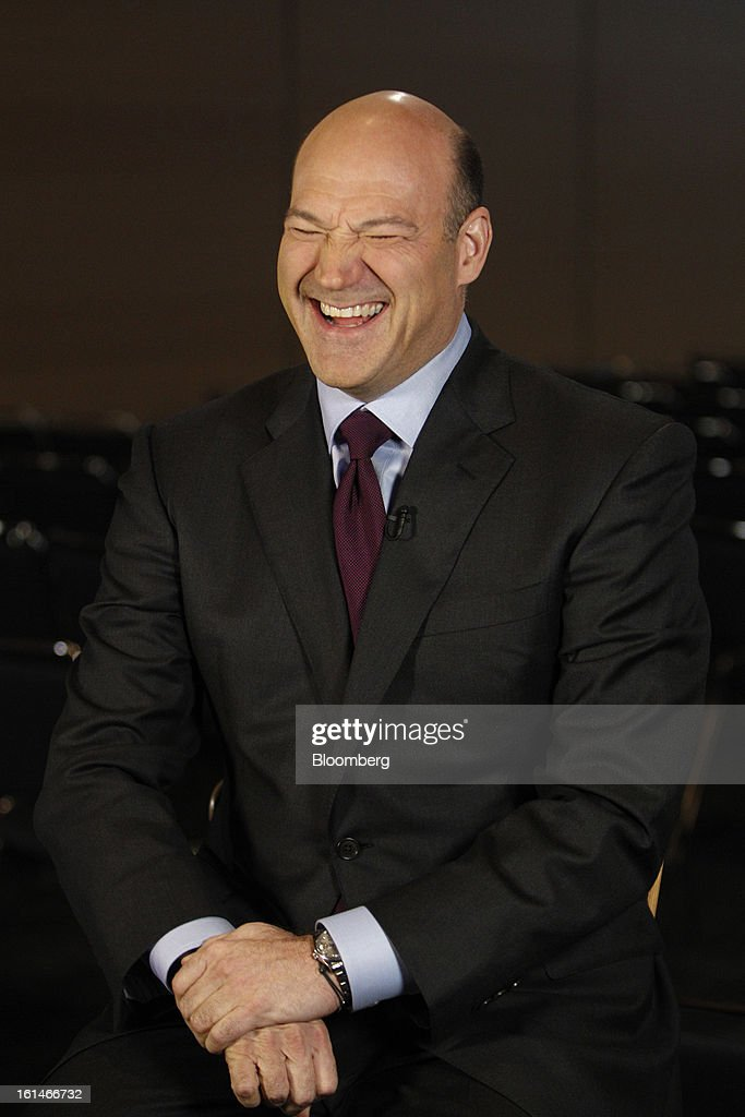 Gary D. Cohn, president and chief operating officer of Goldman Sachs Group Inc., laughs during for a Bloomberg Television interview in Warrensville Heights, Ohio, U.S., on Monday, February 11, 2013. Photographer: David Maxwell/Bloomberg via Getty Images