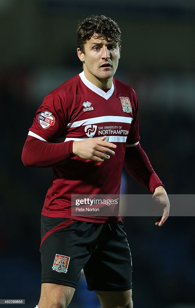 Gary Deegan of Northampton Town in action during the Sky Bet League Two match between Chesterfield and Northampton Town at Proact Stadium on November 26, 2013 in Chesterfield, England.