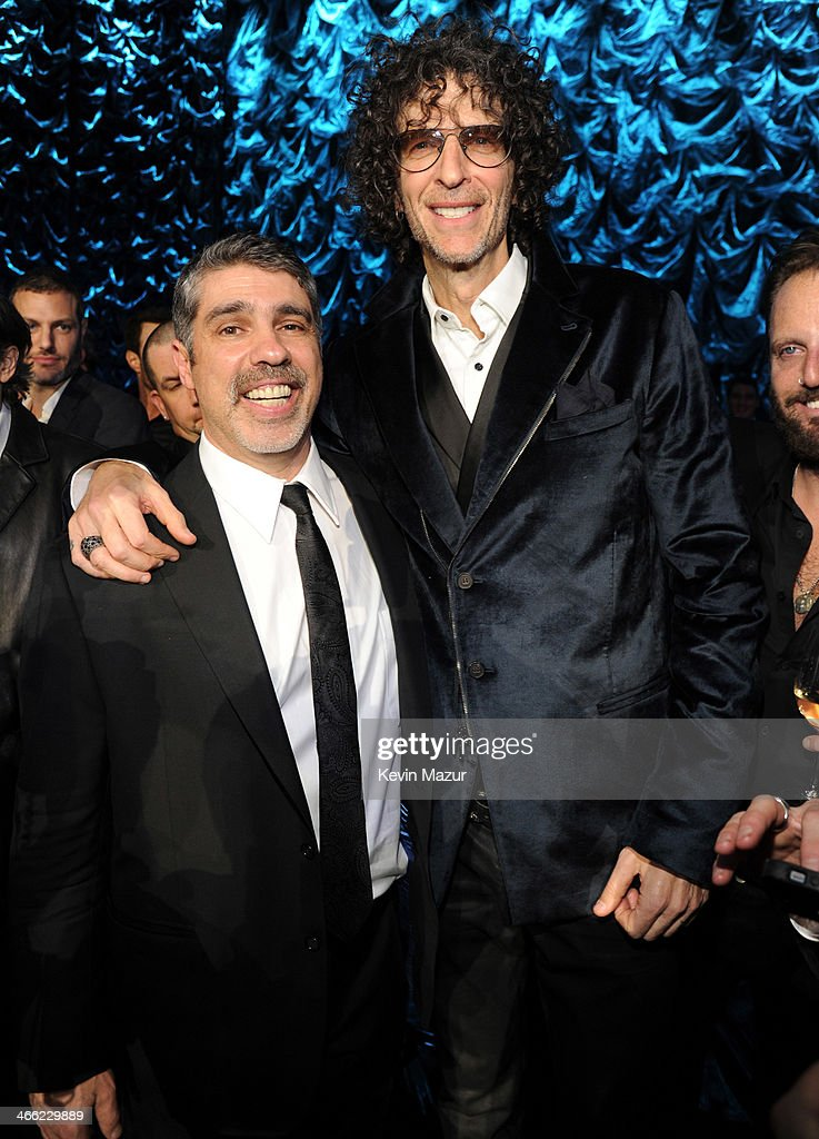 Gary Dell'abate and Howard Stern attend 'Howard Stern's Birthday Bash' presented by SiriusXM, produced by Howard Stern Productions at Hammerstein Ballroom on January 31, 2014 in New York City.