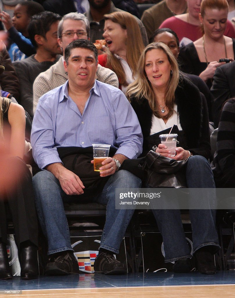 Gary Dell'Abate and Mary Dell Abate attend San Antonio Spurs vs NY Knicks game at Madison Square Garden in New York City on February 8, 2008.