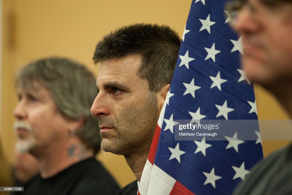 Gary DiPiero of Saugus MA listens to republican presidential candidate Sen Ted Cruz speaks at a town hall style meeting on February 5 2016 at the...