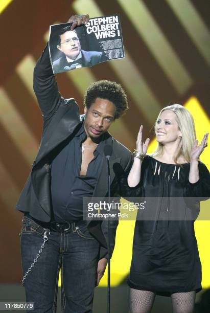 Gary Dourdan and Emily Procter presenters during VH1 Big in '06 Show at Sony Studios in Los Angeles California United States