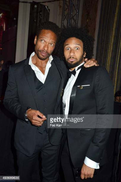 Gary Dourdan and Yassine Azzouz attend the Heartfund Dinner The 67th Annual Cannes Film Festival at the Carlton on May 21 2014 in Cannes France