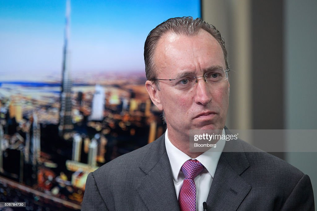 Gary Dugan, chief investment officer, wealth management at Emirates NBD Pjsc, pauses during a Bloomberg Television interview in Dubai, United Arab Emirates, on Sunday, May 1, 2016. Saudi Arabias Tadawul All Share Index could add 15%, but the princes words need to be put into action, Dugan says. Photographer: Razan Alzayani/Bloomberg via Getty Images
