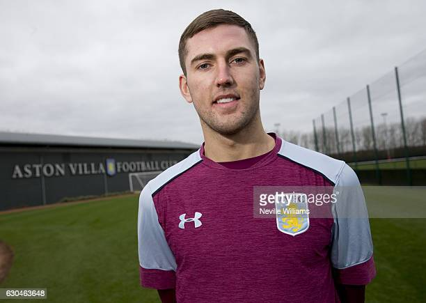 Gary Gardner of Aston Villa poses for a picture at the club's training ground at Bodymoor Heath on December 23 2016 in Birmingham England