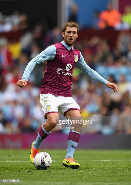 Gary Gardner of Villa in action during the pre season friendly between Aston Villa and Middlesbrough at Villa Park on July 30 2016 in Birmingham...