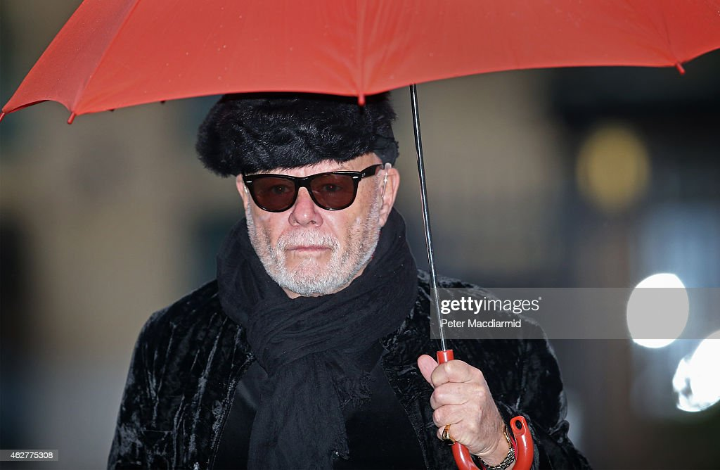 Gary Glitter, real name Paul Gadd, arrives at Southwark Crown Court on February 5, 2015 in London, England. The former glam rock star faces 10 charges relating to alleged sexual crimes from the 1970s and early 1980s.