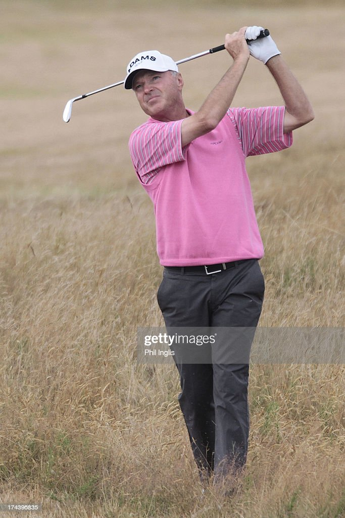 Gary Hallberg of the USA in action during the first round of The Senior Open Championship played at Royal Birkdale Golf Club on July 25, 2013 in Southport, United Kingdom.