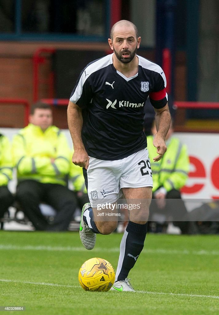 Gary Harkins for Dundee at the Pre Season Friendly between Dundee and Everton at Dens Park on July 28th 2015 in Dundee Scotland