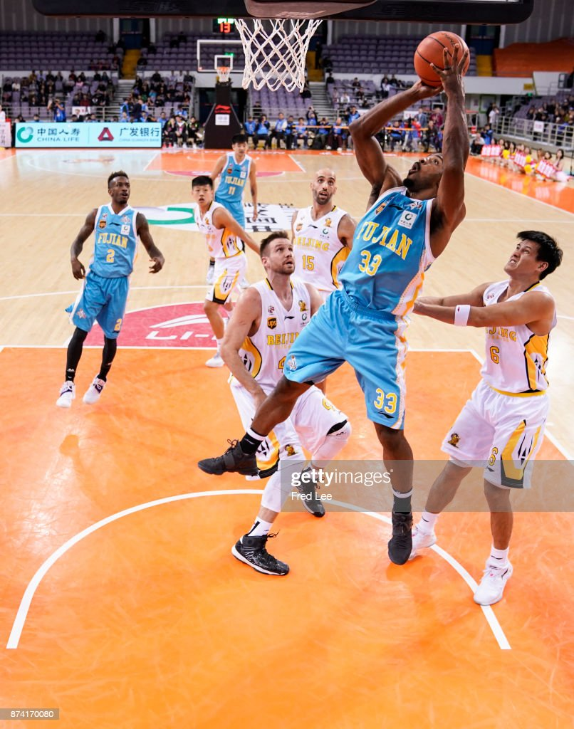 Gary Harris ££33 of Fujian SBS in action during the 2017/2018 CBA League match between Beijing Beikong Fly Dragons and Fujian SBS at Beijing Olympic Sports Center on November 14, 2017 in Beijing, China.