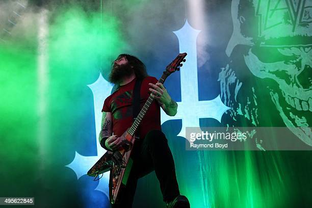 Gary Holt from Slayer performs at Columbus Crew Stadium on May 17 2014 in Columbus Ohio