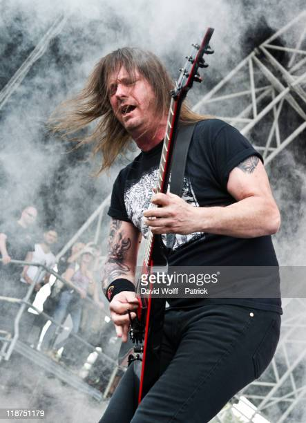Gary Holt from Slayer performs at Sonisphere Festival on July 9 2011 in Amneville France
