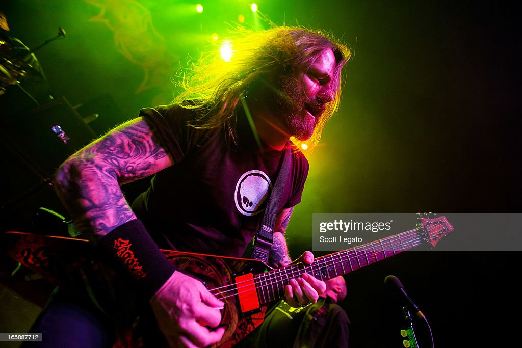 Gary Holt of Exodus performs in concert during the Metal Alliance Tour at The Fillmore on April 6, 2013 in Detroit, Michigan.