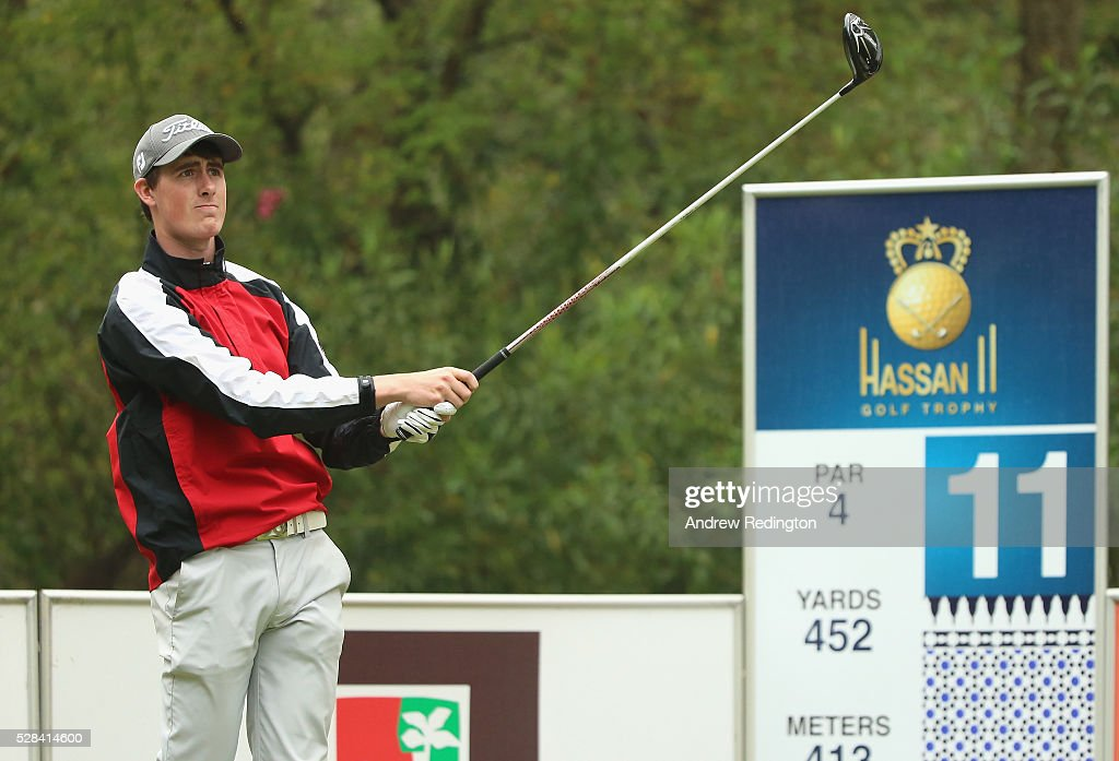 Gary Hurley of Ireland hits his tee-shot on the 11th hole during the first round of the Trophee Hassan II at Royal Golf Dar Es Salam on May 5, 2016 in Rabat, Morocco.