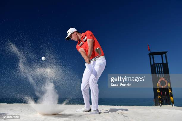 Gary Hurley of Ireland plays a shot during practice prior to the start of The Rocco Forte Open at Verdura Golf and Spa Resort on May 17 2017 in...