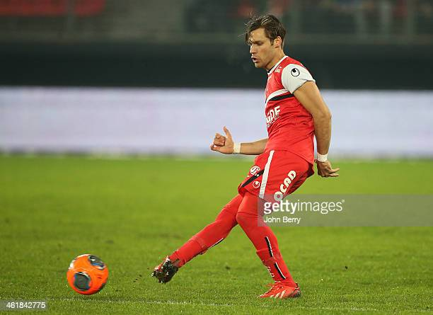 Gary Kagelmacher of Valenciennes in action during the french Ligue 1 match between Valenciennes FC and SC Bastia at the Stade du Hainaut on January...