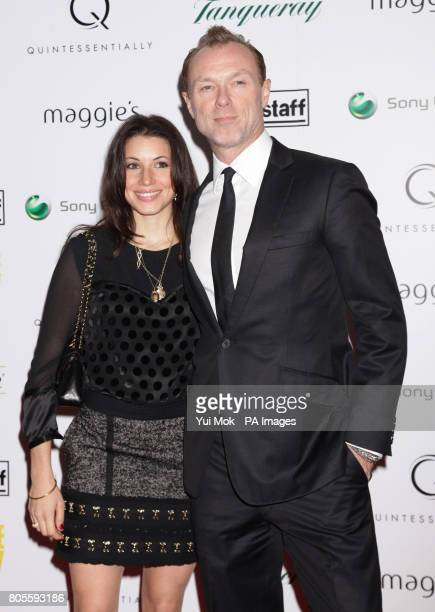 Gary Kemp and his wife Lauren arrive for the charity premiere of Nowhere Boy hosted by Quintessentially at BAFTA in Piccadilly London