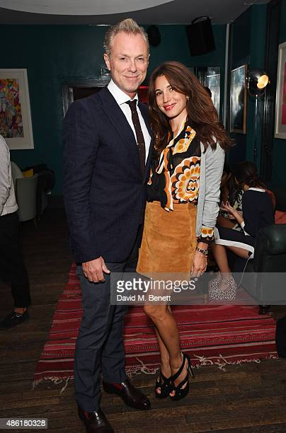 Gary Kemp and Lauren Kemp attend the after party following the UK Premiere of 'Buttercup Bill' at The Groucho Club on September 1 2015 in London...