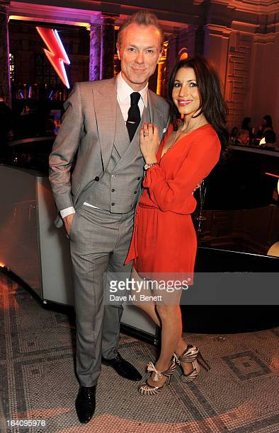 Gary Kemp and Lauren Kemp attend the dinner to celebrate The David Bowie Is exhibition in partnership with Gucci and Sennheiser at the Victoria and...