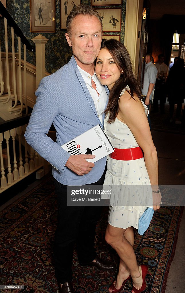 Gary Kemp (L) and Lauren Kemp attend the launch of 'The Eighties: One Day, One Decade' by GQ editor Dylan Jones at Mark's Club on June 6, 2013 in London, England.