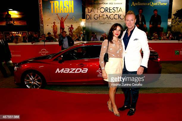 Gary Kemp and Lauren Kemp attend the 'Soul Boys of the Western World' Red carpet during the 9th Rome Film Festival on October 20 2014 in Rome Italy