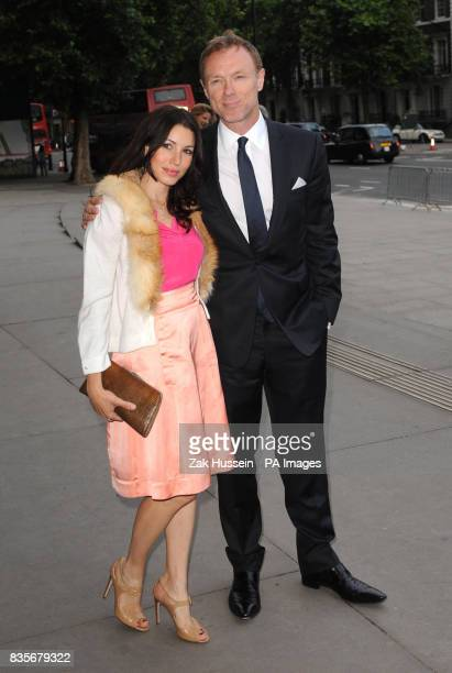 Gary Kemp and wife Lauren Barber arrive for the HarperCollins summer party at the Victoria and Albert Museum in south west London