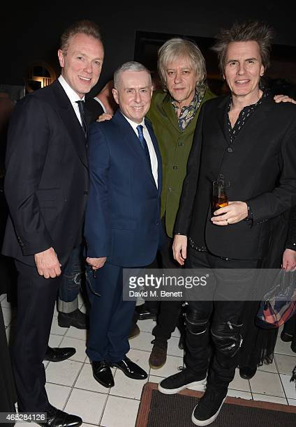 Gary Kemp Holly Johnson Sir Bob Geldof and John Taylor attend Anthony Price's 70th birthday party hosted by Nick Rhodes at Blakes Hotel on March 5...