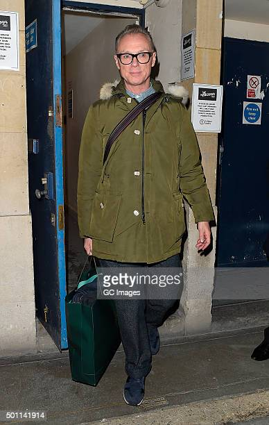 Gary Kemp leaves The Trafalgar Studio theatre following his latest performance in 'The Homecoming' on December 12 2015 in London England