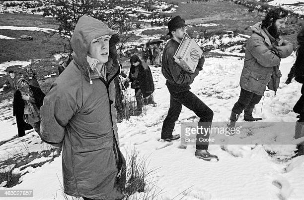 Gary Kemp left of Spandau Ballet photographed on location in the Kirkstone Pass Lake District Cumbria during the shooting of a promotional film for...