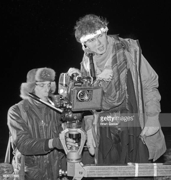 Gary Kemp right of Spandau Ballet photographed on location in the Kirkstone Pass Lake District Cumbria during the shooting of a promotional film for...